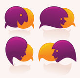 Face speech bubbles Royalty Free Stock Images