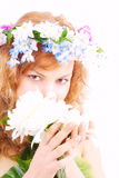 Face of spring Stock Images