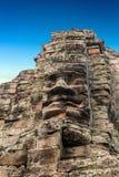 Face statuary, Angkor, Cambodia Stock Photos