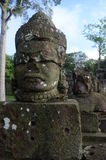 Face statue in Angkor Wat ,Cambodia Royalty Free Stock Image