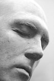Face of Stone. Plaster face royalty free stock images