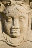 Face from stone Royalty Free Stock Photography