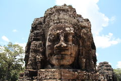 Face stone in Bayon Royalty Free Stock Photos