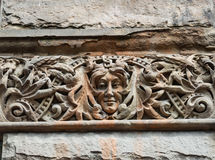 Face in Stone Building Detail Stock Photos