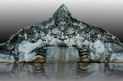 Face of stone giant Stock Photography