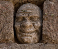 Face in stone Stock Photography