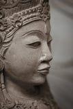Stone woman face closeup. Indonesia. Royalty Free Stock Photo