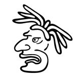 Face in style of Maya Indians, vector illustration Royalty Free Stock Photos