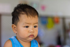 Face sullen frown upset Royalty Free Stock Images