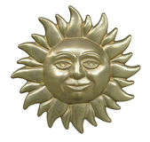The Face of the Sun with clipping path Royalty Free Stock Photography