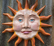 Face in the sun, colorful artwork Royalty Free Stock Images