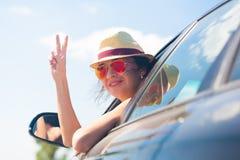 Face, sunglasses, car, smile Royalty Free Stock Photos
