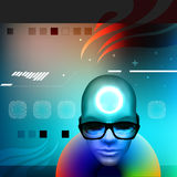 Face with sunglasses Royalty Free Stock Photo