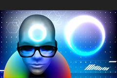 Face with sunglasses Royalty Free Stock Images