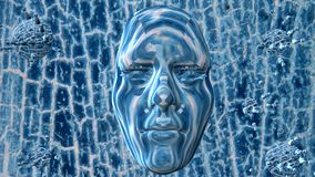 Face in surface Royalty Free Stock Images