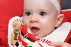Face surpreendida do bebê com um olhar adulto espantado Imagens de Stock