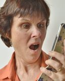 Face of Surprised Middle-aged Woman Stock Photography