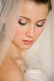 Face of sweet bride Stock Images