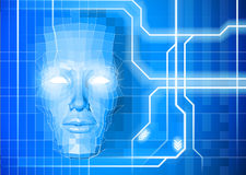 Face technology background concept royalty free illustration