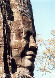 Face on temple. Part of the Bayon temple in Anchor, cambodia Royalty Free Stock Photography