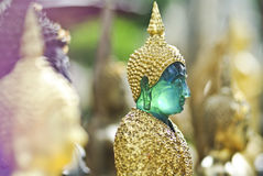 Face of thai Buddha Green Statue closeup Royalty Free Stock Photos