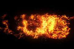 The face of  Thailand Giant , flames Fire effect.  Royalty Free Stock Images