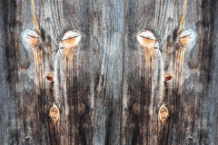 The face on the timber wall Royalty Free Stock Images