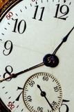 Face Of Time. A very closeup image of a pocket-watch face. Time themes Stock Images