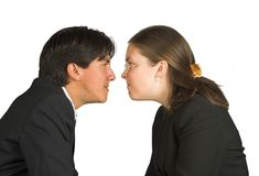 Face to face business Stock Photos