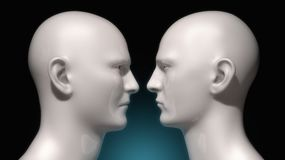 Face To Face Humanoid Royalty Free Stock Images