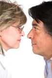 Face to face love Stock Photos