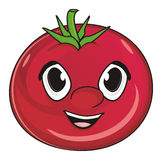 Face of tomato Stock Photography