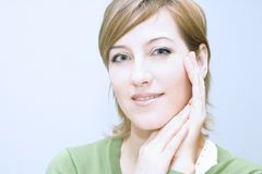 Face touch Royalty Free Stock Photos