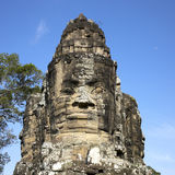 Face tower. The entrance to the Angkor Thom Royalty Free Stock Photo
