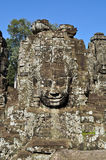 Face-tower at Bayon Temple in Angkor Thom Royalty Free Stock Photo