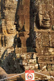 Face tower of Bayon Temple Stock Photography