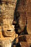 Face tower of Bayon Temple Stock Image