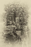 Face tower of Bayon Temple Royalty Free Stock Images