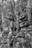 Face tower of Bayon Temple Royalty Free Stock Photos