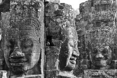 Face tower of Bayon Temple Stock Images