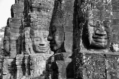 Face tower of Bayon Temple Royalty Free Stock Photo