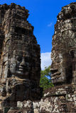 Face Tower at Bayon Temple Royalty Free Stock Images