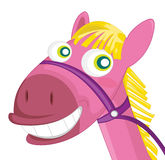 Face of toy horse Stock Image