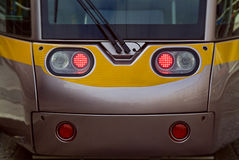 Face of tramway in Dublin. Modern tramway on the street Royalty Free Stock Photography