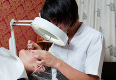 Face treatment Stock Photography