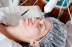 Face treatment Stock Images