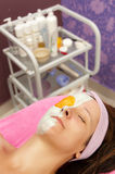 Face treatment royalty free stock images