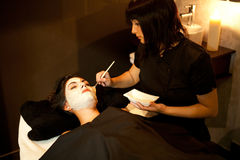 Face treatment. Spa. Stock Photography