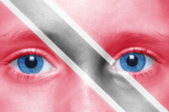 Face with trinidad and tobago flag Royalty Free Stock Image