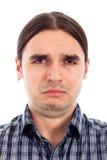 Face triste infeliz do homem Fotos de Stock Royalty Free